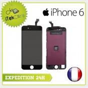 Ecran LCD coloris noir sur chassis pour iPhone 6