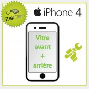 Réparation vitre avant + arrière pour iPhone 4