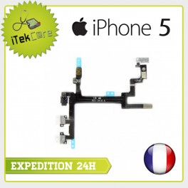 Nappe flex power on/off + volume + vibreur pour iPhone 5