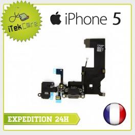 Nappe dock connecteur de charge, prise jack, micro principal, antenne pour iPhone 5
