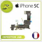 Nappe dock connecteur de charge pris jack, micro principal, antenne pour iPhone 5C