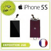 Ecran LCD coloris blanc sur chassis pour iPhone 5S