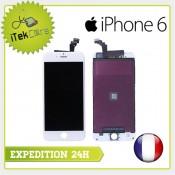 Ecran LCD coloris blanc sur chassis pour iPhone 6