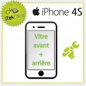 Réparation vitre avant + arrière pour iPhone 4S