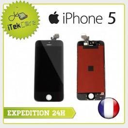 Ecran LCD coloris noir sur chassis pour iPhone 5