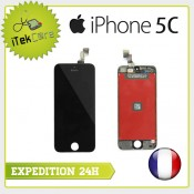 Ecran LCD coloris noir sur chassis pour iPhone 5C
