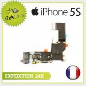 Nappe dock connecteur de charge, prise jack, micro principal, antenne pour iPhone 5S